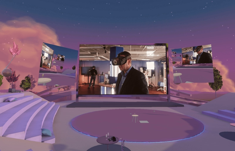 A video is being screened at VR Pavilion Finland's Aurora Amphitheatre. Opens in lightbox.