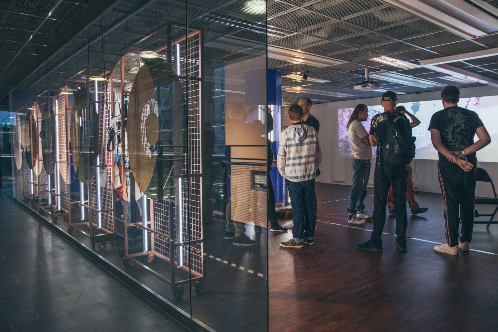 Developer teams checking out the XR Showroom at Helsinki XR Center Grand Opening, 5 September 2019.