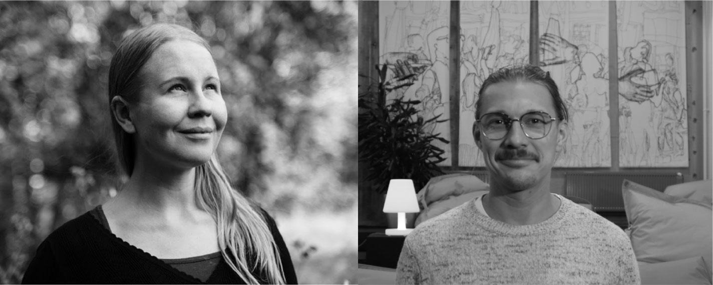 Henna Fabritius and Mikko Vekkeli from the Green Pixel team.