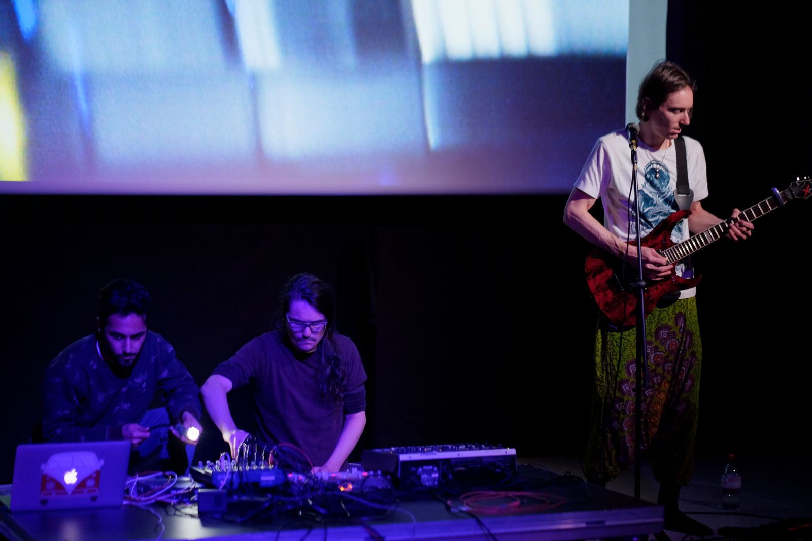 The ambient - electronic band Ansaritie performing, of which Unfold Stories' both members Lucio and Riccardo are a part of.