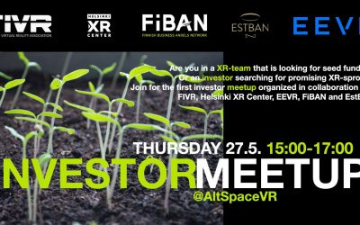 FIVR, HXRC & EEVR Summer Meetup 2021: Startups pitching in Virtual Reality!