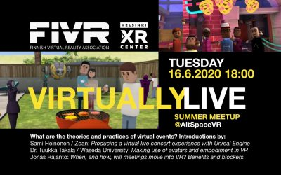 FIVR Summer Meetup 2020: Virtually Live