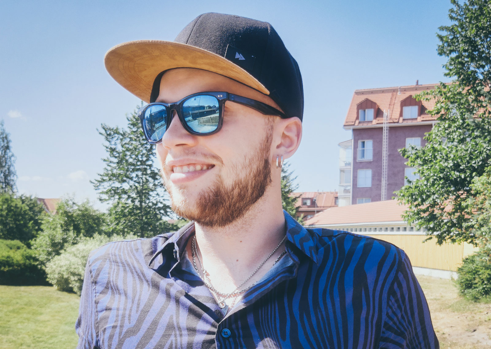Lauri Kuusisto, enjoying a summer day during non-military service at the Helsinki XR Center.