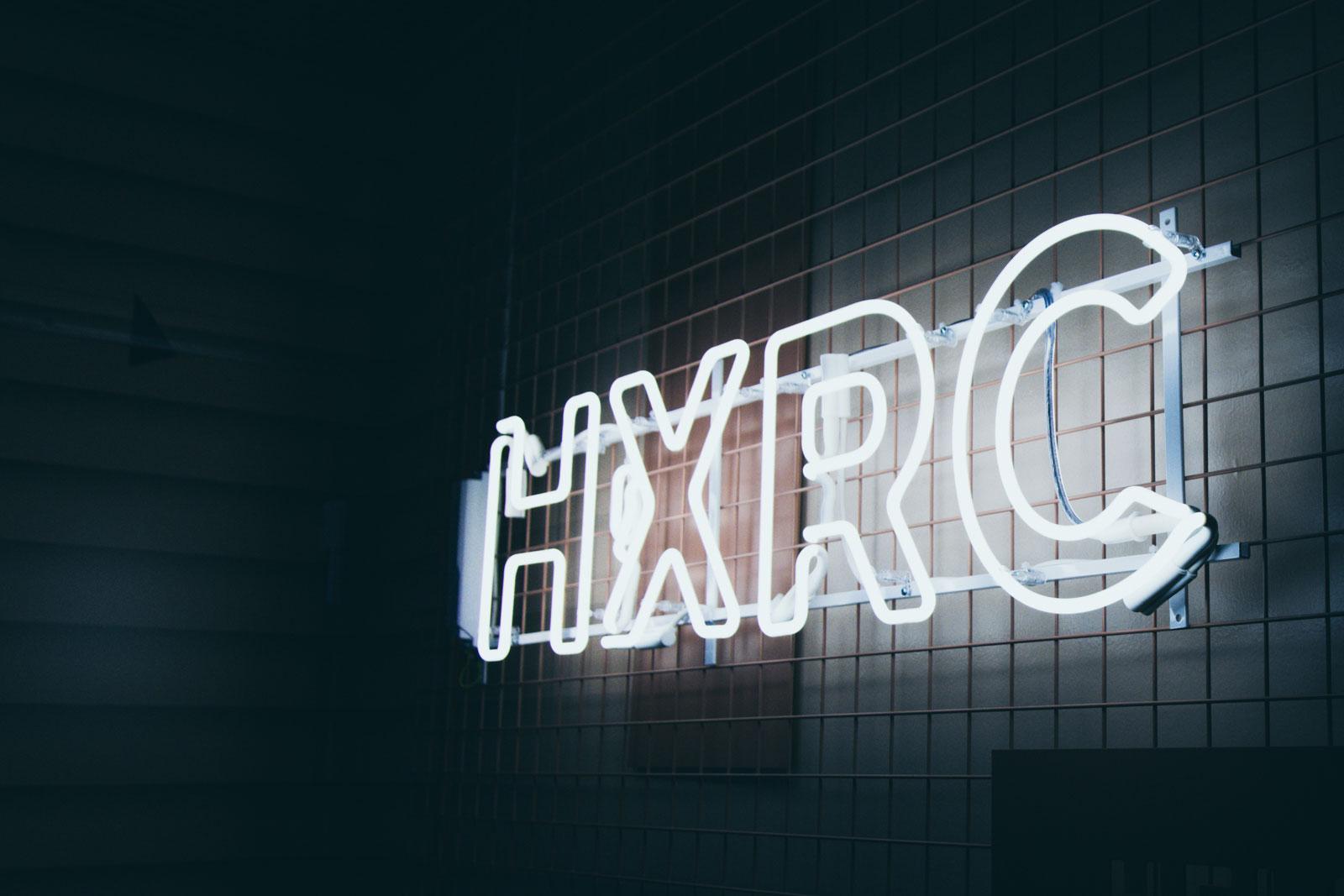 Helsinki XR Center neon sign.
